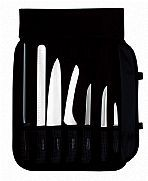 7 pc. cutlery set. black handles