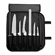 7 pc. cutlery set. white handles