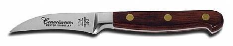 Cuchillo mondador curvo forjado de 7.5 cm.