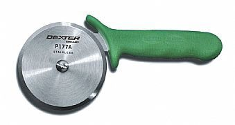 Cortador de pizza de 10 cm., Mango verde