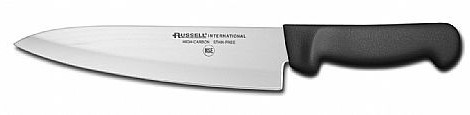 8 inch cooks knife, black handle